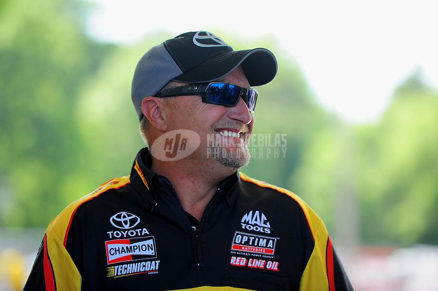 May 6, 2012; Commerce, GA, USA: NHRA funny car driver Jeff Arend during the Southern Nationals at Atlanta Dragway. Mandatory Credit: Mark J. Rebilas-