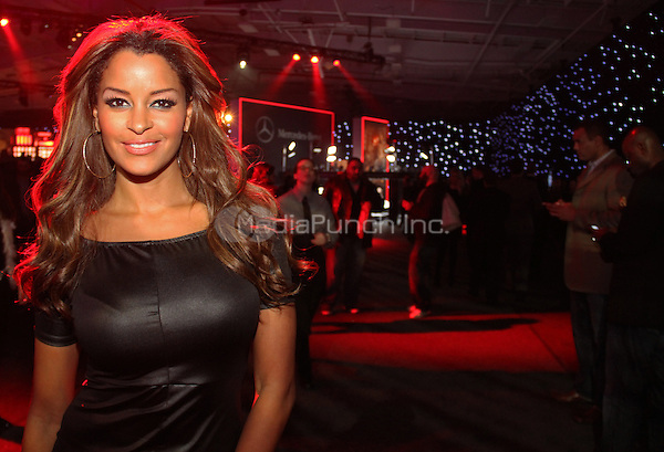 NEW YORK, NY - JANUARY 31: Claudia Jordan performs at ESPN The Party at Basketball City - Pier 36 - South Street on January 31st, 2014 in New York City. Photo Credit: Walik Goshorn/MediaPunch