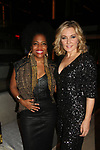 Actress Amy Carlson - Another World (co-mistress of ceremonies) poses with Rhonda Ross at the annual All That Glitters Gala - 24 years of support to New York City's homeless mothers and their cildren - (VIP Reception - Silent Auction) was held on November 7, 2018 at Noir et Blanc and the 40/40 Club in New York City, New York.  (Photo by Sue Coflin/Max Photo)