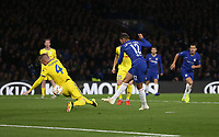 Chelsea's Ruben Loftus-Cheek scores his side's first goal  <br /> <br /> Photographer Rob Newell/CameraSport<br /> <br /> UEFA Europa League Group L - Chelsea v FC BATE Borisov - Thursday 25th October - Stamford Bridge - London<br />  <br /> World Copyright © 2018 CameraSport. All rights reserved. 43 Linden Ave. Countesthorpe. Leicester. England. LE8 5PG - Tel: +44 (0) 116 277 4147 - admin@camerasport.com - www.camerasport.com