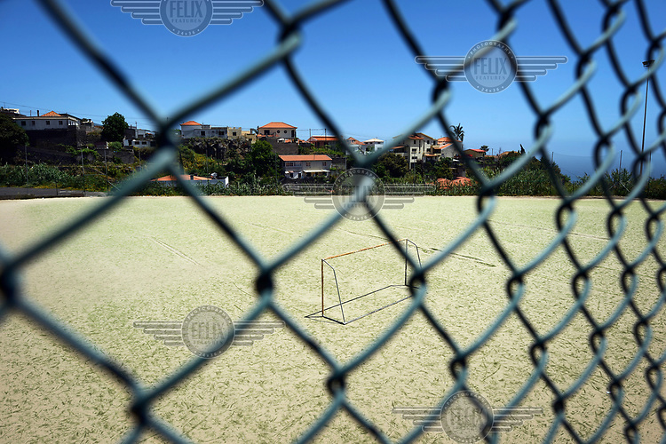 The football pitch in San Antonio, a working class area of Funchal, where star footballer Cristiano Ronaldo first trained and played.