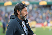9th November 2019; Bankwest Stadium, Parramatta, New South Wales, Australia; International Womens Friendly Football, Australia versus Chile; Jose Letelier coach of Chile before kick off - Editorial Use