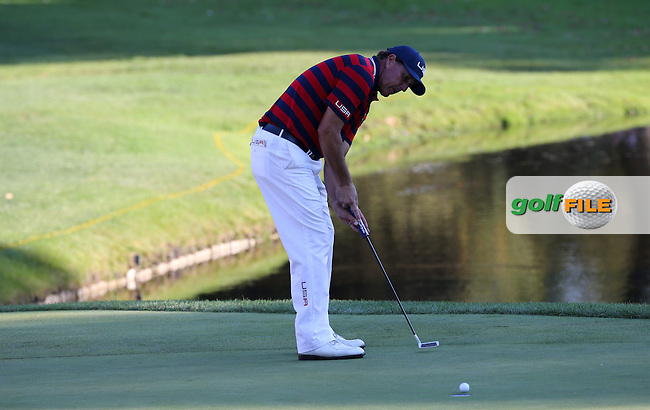 Phil Mickelson (Team USA) holes out at 15 during the Saturday Afternoon Four-Balls, at the 41st Ryder Cup 2016, at Hazeltine National Golf Club, Minnesota, USA.  01View of the 10th2016. Picture: David Lloyd | Golffile.