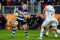 Matt Garvey of Bath Rugby in possession. Aviva Premiership match, between Bath Rugby and Exeter Chiefs on December 31, 2016 at the Recreation Ground in Bath, England. Photo by: Patrick Khachfe / Onside Images