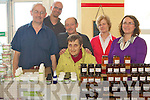 INDOOR MARKET: Stall holders and costumers enjoying the Nano Nagle School Indoor Market in aid of the Senior Children Educational School Tour to Lanzarote in Castlisland on Sunday pictured Jim Collins Klaus Woessner (Flourish Natural Cosmetics and Beauty products), Bob the John SummerHayes (Jam preserves), Maeve Stack, Annette Browne and Liz Swords.