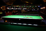 Snooker, English billiards tables at billiards venue. Markham, Ontario, Canada.