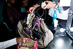 JOHANNESBURG, SOUTH AFRICA - MARCH 27: A models handbag in the make-up room before a fashion show at the South African fashion week on March 26, 2010, Turbine Hall in central Johannesburg, South Africa. Buyers and celebrities watched the 3 day fashion week, a biannual event. (Photo by Per-Anders Pettersson)
