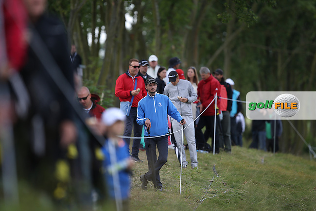 Spectator during the Final Round of the D&D Real Czech Masters 2014 from the Albatross Golf Resort, Vysoky Ujezd, Prague. Picture:  David Lloyd / www.golffile.ie