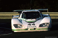 LE MANS, FRANCE: The Group 44 Jaguar XJR-5 008 of Bob Tullius, Brian Redman and Doc Bundy being driven to a 23rd place finish in the 24 Hours of Le Mans at Circuit de la Sarthe in Le Mans, France, on June 17, 1984.