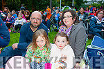 -r Claire Walsh, Hannah Walsh, Patrick Walsh and Roisín Locke enjoying the Open Air Film screening of  Shaun the Sheep  in Pearse Park part of Culture Night on Friday