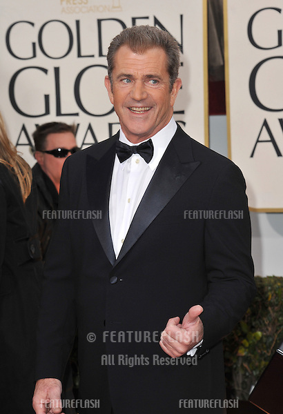 Mel Gibson at the 70th Golden Globe Awards at the Beverly Hilton Hotel..January 13, 2013  Beverly Hills, CA.Picture: Paul Smith / Featureflash