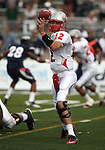 New Mexico quarterback B.R. Holbrook throws against Nevada during an NCAA college football game in Reno, Nev., on Saturday, Oct. 15, 2011. (AP Photo/Cathleen Allison)