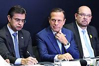 """São Paulo (SP), 29/07/2019 - Política / Governo / São Paulo -João Doria, Governador de São Paulo, e Pedro Stefanini, Diretor Geral da Bracell, durante anúncio do """"Projeto Star"""", que prevê o investimento de R$ 7 bilhões da Bracell para a expansão da fábrica de celulose no estado de São Paulo, nesta segunda-feira, 29. (Foto Charles Sholl/Brazil Photo Press/Agencia O Globo) Politica"""