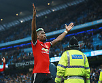 Paul Pogba of Manchester United celebrates with the fans during the premier league match at the Etihad Stadium, Manchester. Picture date 7th April 2018. Picture credit should read: Simon Bellis/Sportimage