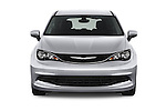 Car photography straight front view of a 2017 Chrysler Pacifica LX 5 Door Minivan Front View