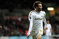 Barclays Premier League, Swansea City (White) V Norwich City (black) Liberty Stadium, Swansea, 08/12/12<br /> Pictured: Swansea's Michu<br /> Picture by: Ben Wyeth / Athena <br /> Athena Picture Agency<br /> info@athena-pictures.com