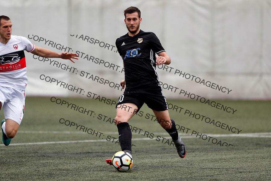 Petar Bojic  Vozdovac - Cukaricki super liga Srbije 5.4.1018. April 5. 2018. (credit image & photo: Pedja Milosavljevic / STARSPORT)