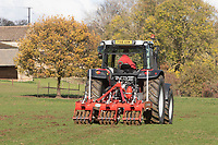 Opico sword lifter working in pastureland <br />