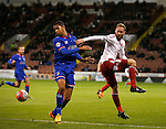 Matt Done of Sheffield Utd tussles with Timothy Dieng of Oldham Athletic - FA Cup Second round - Sheffield Utd vs Oldham Athletic - Bramall Lane Stadium - Sheffield - England - 5th December 2015 - Picture Simon Bellis/Sportimage