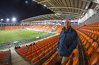 Wycombe supporters during the The Checkatrade Trophy match between Blackpool and Wycombe Wanderers at Bloomfield Road, Blackpool, England on 10 January 2017. Photo by Andy Rowland / PRiME Media Images.