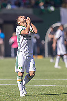 Portland, Oregon - Sunday October 6, 2019: Sebastian Blanco #10 reacts after missing a shot during a regular season match between Portland Timbers and San Jose Earthquakes at Providence Park in Portland, Oregon.