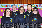 The Ballymac ballad group  at Scór Sinsear in Castleisland on Saturday front row l-r:  Anne Marie Bronsna, John Scanlon, Amanda Mannix, Lei Zhang and Ciara Moriarty