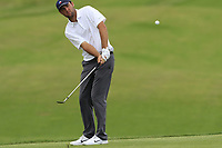 Scottie Scheffler (AM)(USA) chips onto the 11th green during Saturday's Round 3 of the 117th U.S. Open Championship 2017 held at Erin Hills, Erin, Wisconsin, USA. 17th June 2017.<br /> Picture: Eoin Clarke | Golffile<br /> <br /> <br /> All photos usage must carry mandatory copyright credit (&copy; Golffile | Eoin Clarke)