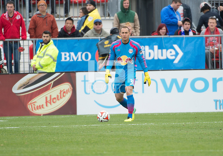 Toronto, Ontario - May 17, 2014: New York Red Bulls goalkeeper Luis Robles #31in action during a game between the New York Red Bulls and Toronto FC at BMO Field. Toronto FC won 2-0.