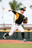 Bradenton Marauders pitcher Chad Kuhl (36) delivers a pitch during a game against the Jupiter Hammerheads on April 19, 2014 at McKechnie Field in Bradenton, Florida.  Bradenton defeated Jupiter 4-0.  (Mike Janes/Four Seam Images)