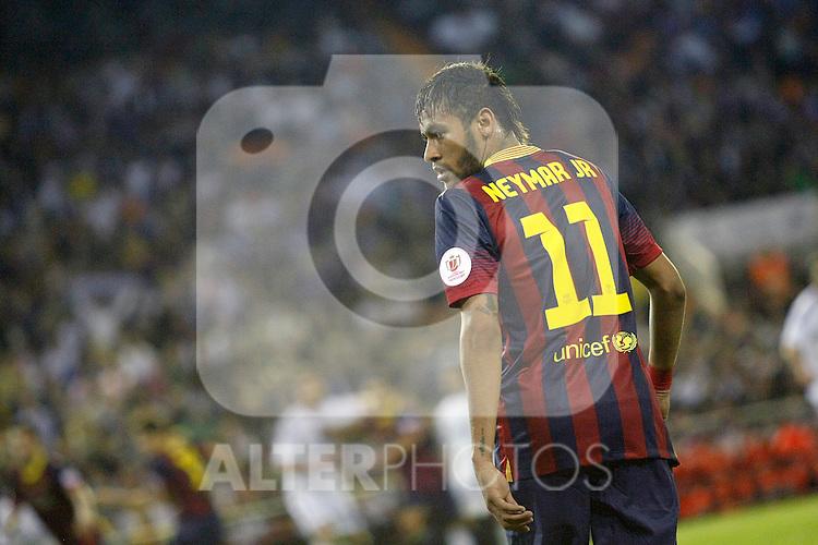 FC Barcelona's Neymar Santos Jr during spanish KIng's Cup Final match.April 16,2014. (ALTERPHOTOS/Acero)