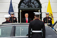 United States President Donald J. Trump and First lady Melania Trump greet the President of Ecuador Lenín Moreno and his wife Rocio Gonzales De Moreno outside the White House in Washington D.C., U.S. on Wednesday, February 12, 2020.  <br /> <br /> Credit: Stefani Reynolds / CNP/AdMedia