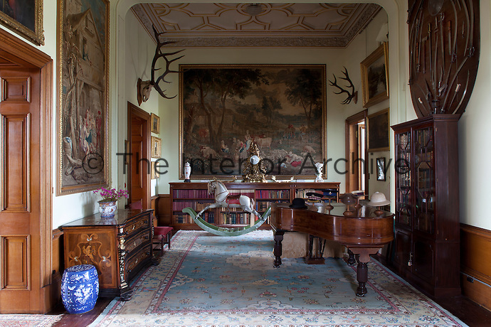 Inner hall, hung with de Coigny tapestries
