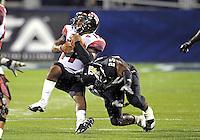 Florida International University football player linebacker Jordan Hunt (25) plays against the University of Louisiana-Lafayette on September 24, 2011 at Miami, Florida. Louisiana-Lafayette won the game 36-31. .