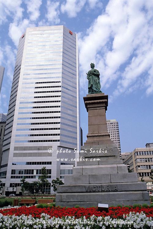 Statue of Queen Victoria in Montreal, Quebec, Canada.