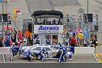 Mark Martin, (#55) makes a pit stop.