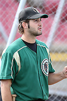 August 17 2008:  Chad Kerfoot of the Kane County Cougars, Class-A affiliate of the Oakland Athletics, during a game at Philip B. Elfstrom Stadium in Geneva, IL.  Photo by:  Mike Janes/Four Seam Images