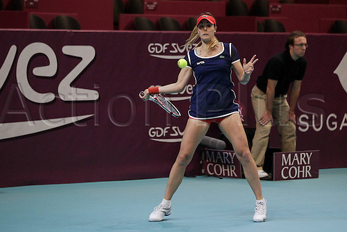 28.01.2014. Paris, France. Open GDF Suez tenis tournament. Alize Cornet ( FRA )