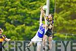 Kenneth Sheehy Shannon Rangers in action against Barry Shanahan Austin Stacks in the First Round of the Kerry Senior Football Championship at O'Rahilly Park Ballylongford on Sunday.