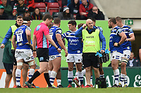 Allan Ryan of Bath Rugby looks on during a break in play. Gallagher Premiership match, between Leicester Tigers and Bath Rugby on May 18, 2019 at Welford Road in Leicester, England. Photo by: Patrick Khachfe / Onside Images
