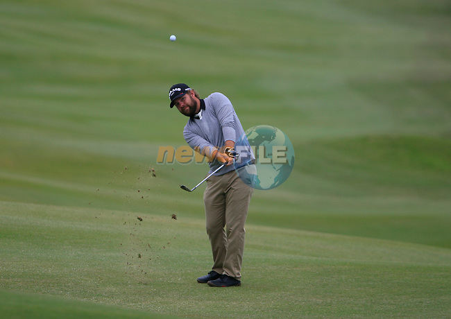Ryan Moore (USA) chips onto the 8th hole during Day 2 of the Volvo World Match Play Championship in Finca Cortesin, Casares, Spain, 20th May 2011. (Photo Eoin Clarke/Golffile 2011)