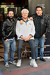 "Spanish director Marcos Cabota (L), american actor David Prowse (Darth Vader) and Spanish director Toni Bestard during the presentation of the film ""I Am Your Father"" at Verdi Cinemas in Madrid, November 18, 2015.<br /> (ALTERPHOTOS/BorjaB.Hojas)"