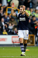 Tom Bradshaw scorer of Millwall's second goal celebrates their victory at the final whistle during Millwall vs Leeds United, Sky Bet EFL Championship Football at The Den on 5th October 2019