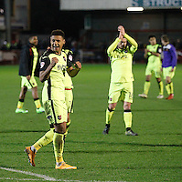 Exeter City's Ollie Watkins is all smilies at the end of the Sky Bet League 2 match between Crawley Town and Exeter City at Broadfield Stadium, Crawley, England on 28 February 2017. Photo by Carlton Myrie / PRiME Media Images.