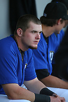 May 14 2009: Matt Sweeney of the Rancho Cucamonga Quakes before game against the High Desert Mavericks at The Epicenter in Rancho Cucamonga,CA.  Photo by Larry Goren/Four Seam Images