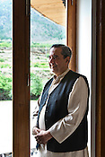 Dr. Ashok Khosla of TARA poses for a portrait at the first GNH meeting in Thimphu, Bhutan. Photo: Sanjit Das/Panos