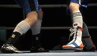 Boxen in Delitzsch, Ostdeutsche Meisterschaft und Rosenpokal im Kultur- und Sportzentrum.   im Bild: Feature: Boxstiefel. .Foto: Alexander Bley