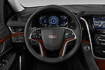 Car pictures of steering wheel view of a 2020 Cadillac Escalade-ESV Premium-Luxury 5 Door SUV Steering Wheel
