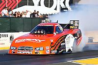 Jul. 26, 2013; Sonoma, CA, USA: NHRA funny car driver Johnny Gray during qualifying for the Sonoma Nationals at Sonoma Raceway. Mandatory Credit: Mark J. Rebilas-