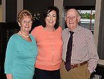 Paula Owens celebrating her 50th birthday in The Pheasant with parents Tommy and Rita Brady. Photo:Colin Bell/pressphotos.ie