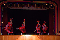 Dawson City, YT, Yukon Territory, Canada - Cancan / Can Can Girls, Dancers dancing at Diamond Tooth Gertie's Gambling Hall